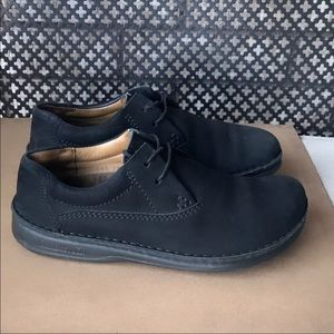 Auth Birkenstock black suede leather shoes 7